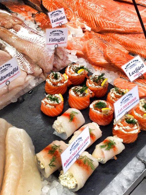 skaldjur, delikatesser